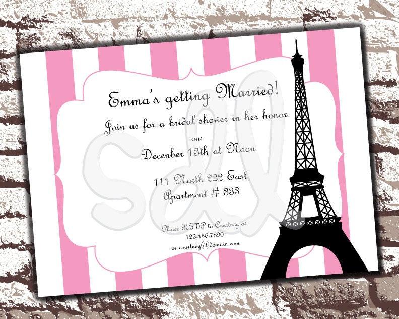 Best ideas about Paris Themed Birthday Invitations . Save or Pin PRINTABLE PDF Paris Theme Customized Invitation Birthday Now.