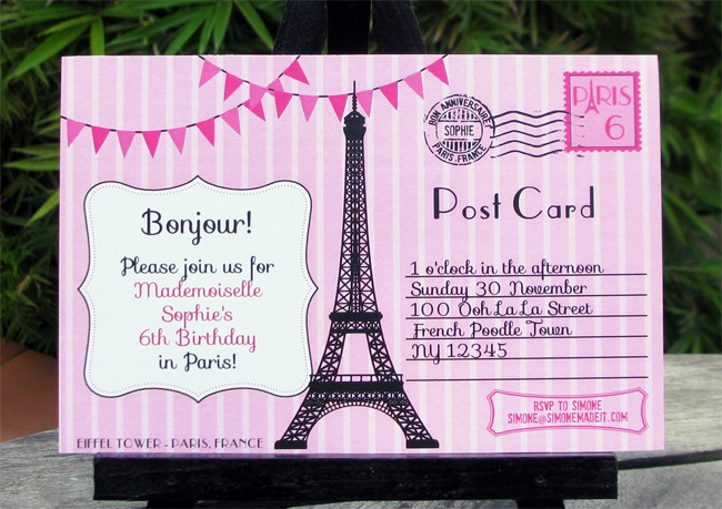 Best ideas about Paris Themed Birthday Invitations . Save or Pin Birthday Party in Paris Invitations & Printable Collection Now.