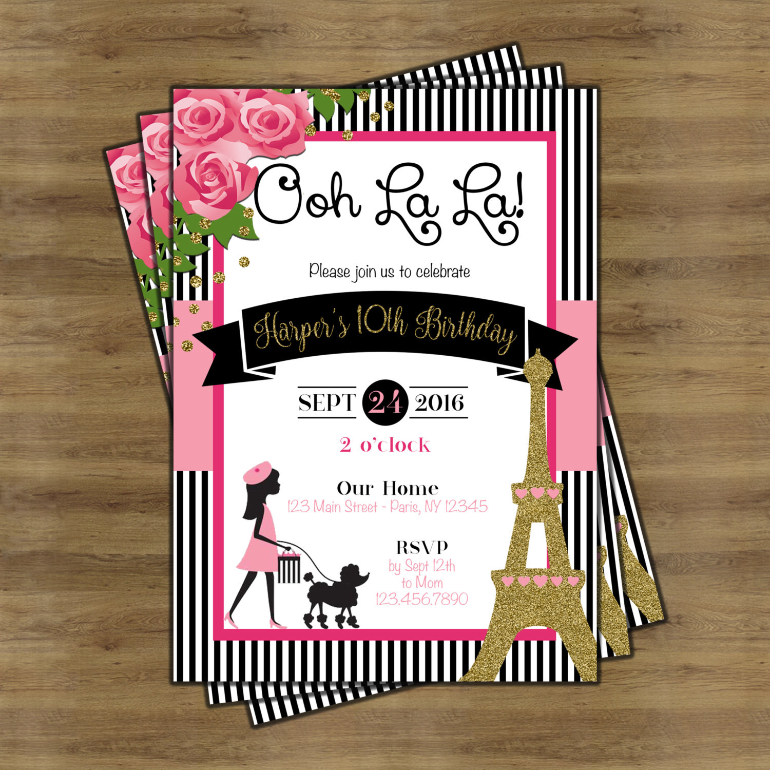 Best ideas about Paris Themed Birthday Invitations . Save or Pin Paris Invitation Paris Theme Party Paris Themed Invitations Now.
