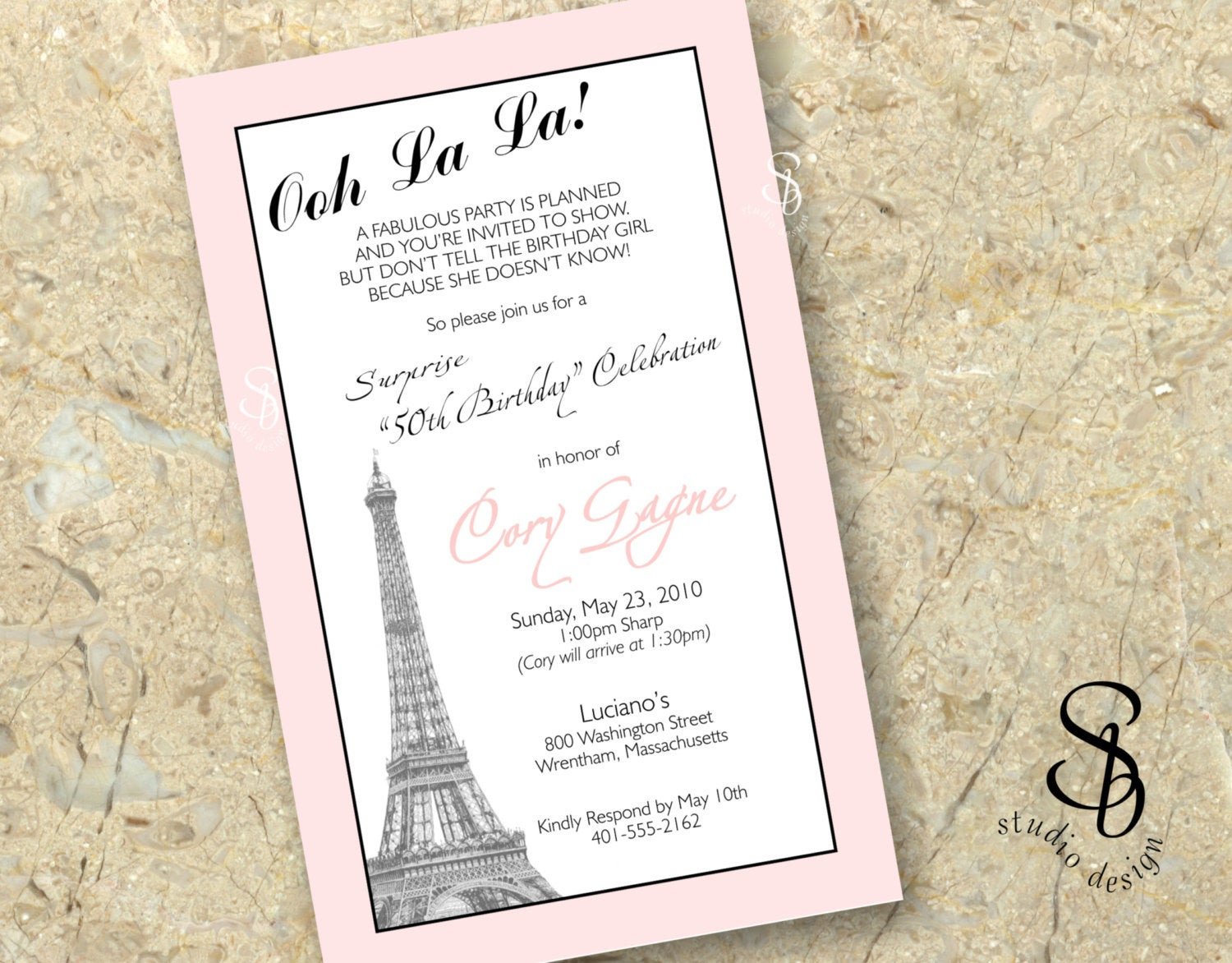Best ideas about Paris Themed Birthday Invitations . Save or Pin paris theme birthday invitation DIY printable Now.