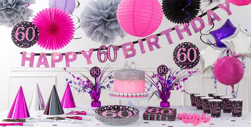 Best ideas about Party City 60th Birthday . Save or Pin Pink Sparkling Celebration 60th Birthday Party Supplies Now.