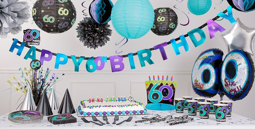 Best ideas about Party City 60th Birthday . Save or Pin The Party Continues 60th Birthday Party Supplies Party City Now.