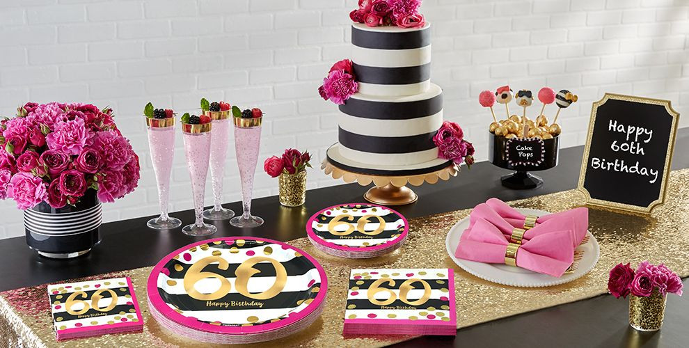 Best ideas about Party City 60th Birthday . Save or Pin Pink and Gold 60th Birthday Party Supplies Now.