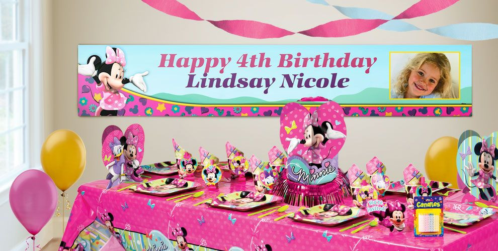 Best ideas about Party City Birthday Banners . Save or Pin Custom Minnie Mouse Birthday Banners Party City Now.