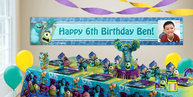 Best ideas about Party City Birthday Banners . Save or Pin Custom Monsters University Birthday Banners Party City Now.