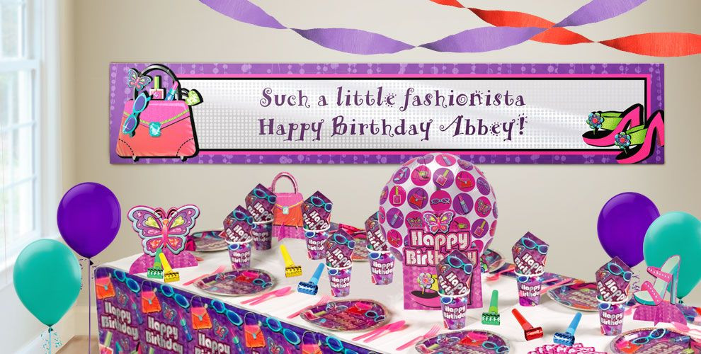 Best ideas about Party City Birthday Banners . Save or Pin Custom Glitzy Girl Birthday Banners Party City Now.