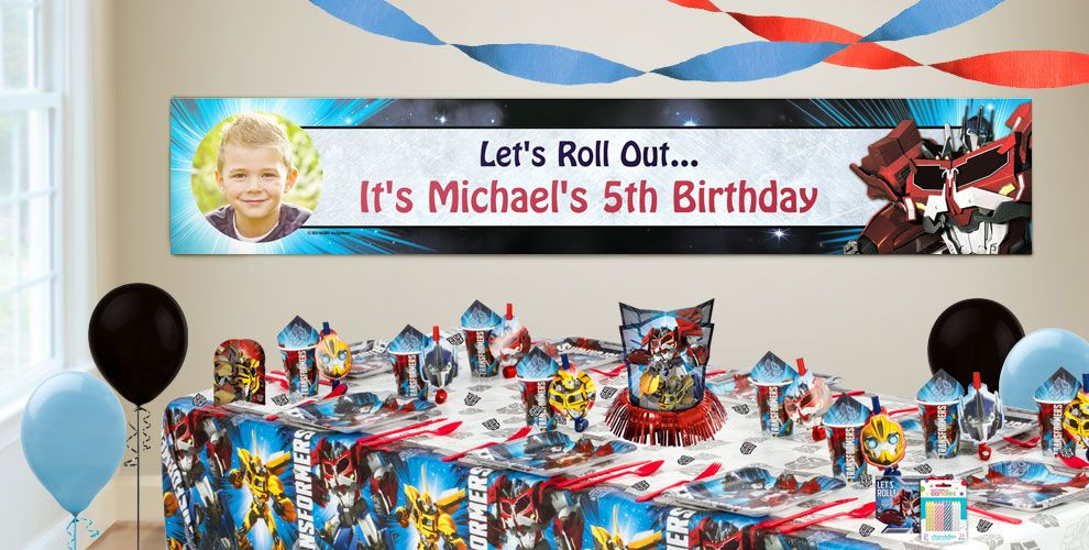 Best ideas about Party City Birthday Banners . Save or Pin Custom Transformers Birthday Banners Party City Now.