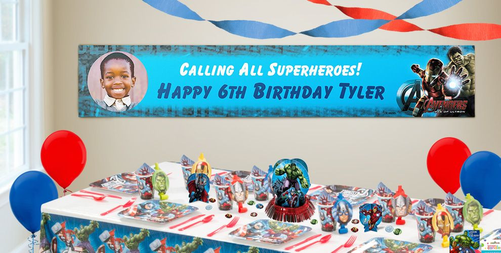 Best ideas about Party City Birthday Banners . Save or Pin Custom Avengers Birthday Banners Party City Now.