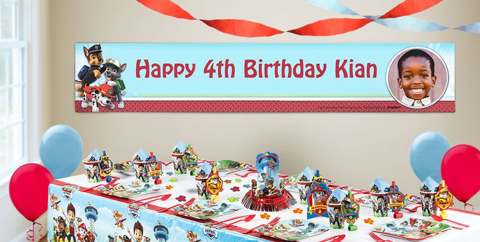 Best ideas about Party City Birthday Banners . Save or Pin Custom PAW Patrol Birthday Banners Party City Now.