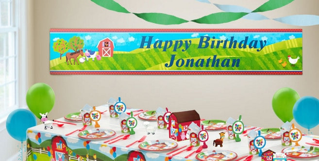 Best ideas about Party City Birthday Banners . Save or Pin Custom Barnyard Birthday Banners Party City Now.