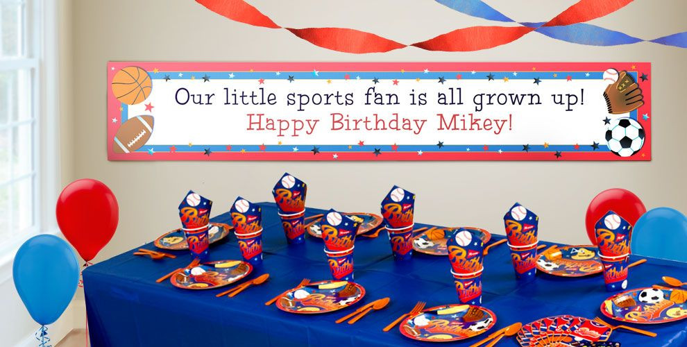 Best ideas about Party City Birthday Banners . Save or Pin Custom Little Champs Birthday Banners Party City Now.