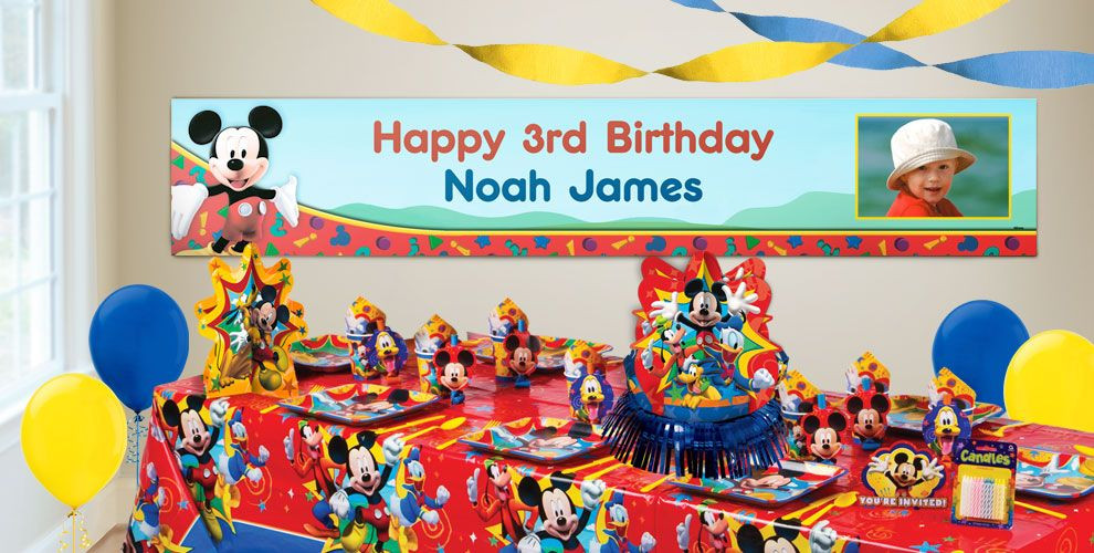 Best ideas about Party City Birthday Banners . Save or Pin Custom Mickey Mouse Birthday Banners Party City Now.