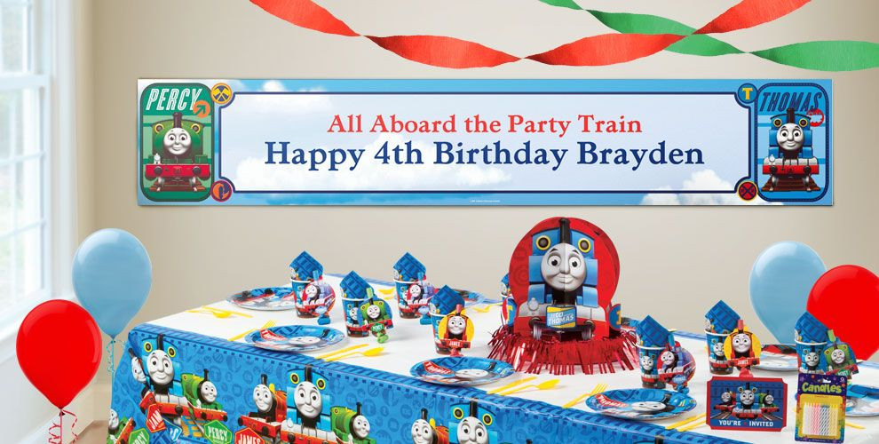 Best ideas about Party City Birthday Banners . Save or Pin Custom Thomas the Tank Engine Birthday Banners Party City Now.