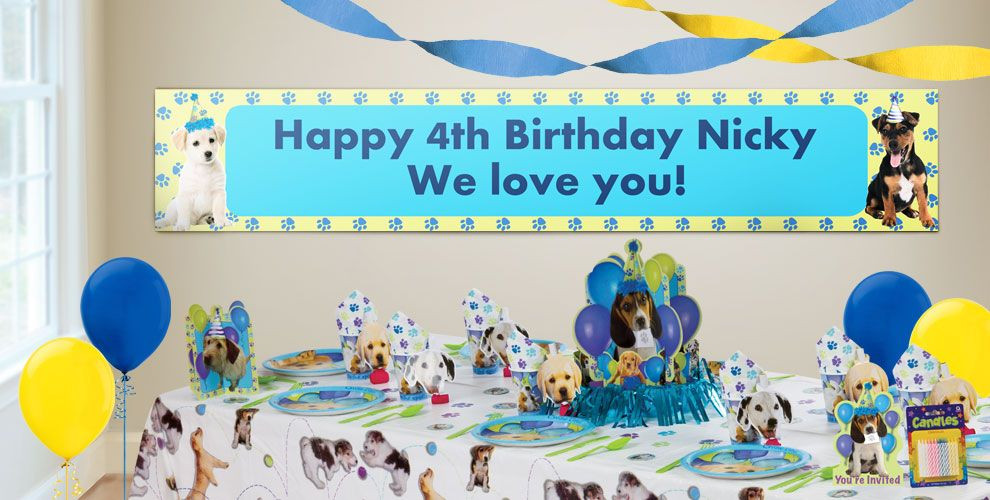 Best ideas about Party City Birthday Banners . Save or Pin Custom Party Pups Birthday Banners Party City Now.