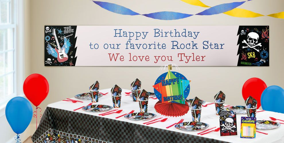 Best ideas about Party City Birthday Banners . Save or Pin Custom Party Rock Birthday Banners Party City Now.