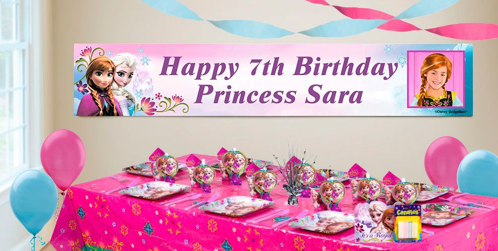 Best ideas about Party City Birthday Banners . Save or Pin Custom Frozen Birthday Banners Party City Now.