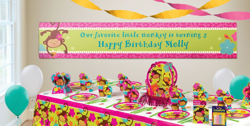 Best ideas about Party City Birthday Banners . Save or Pin Custom Monkey Love Birthday Banners Party City Now.