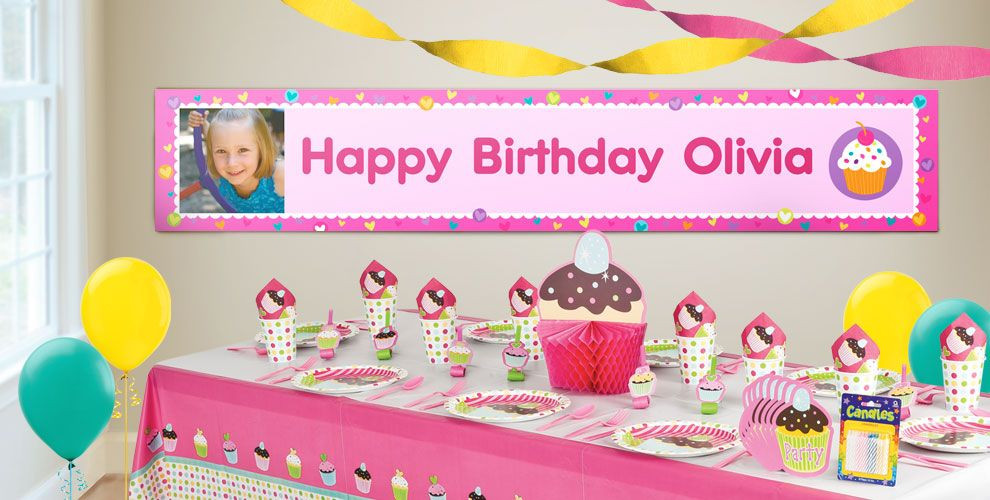 Best ideas about Party City Birthday Banners . Save or Pin Custom Cupcake Birthday Banners Party City Now.