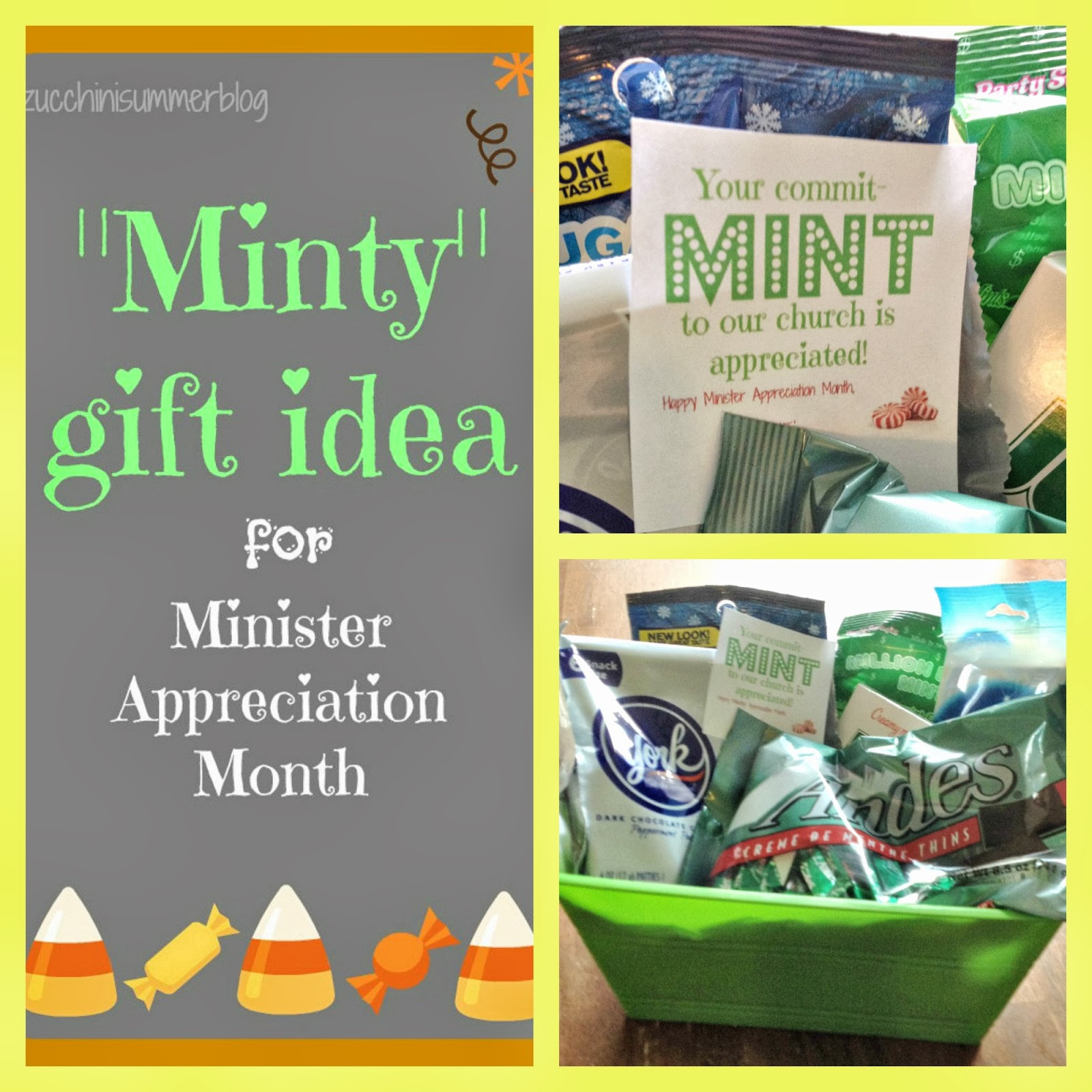 Best ideas about Pastor Appreciation Gift Ideas Pinterest . Save or Pin Zucchini Summer mit MINT to Church Minister Now.