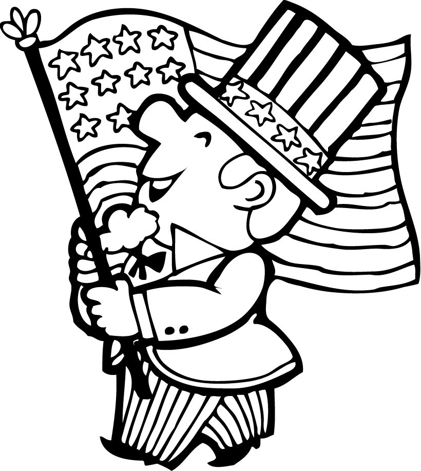 Best ideas about Patriotic Printable Coloring Pages . Save or Pin 4th of july parade coloring pages Hellokids Now.