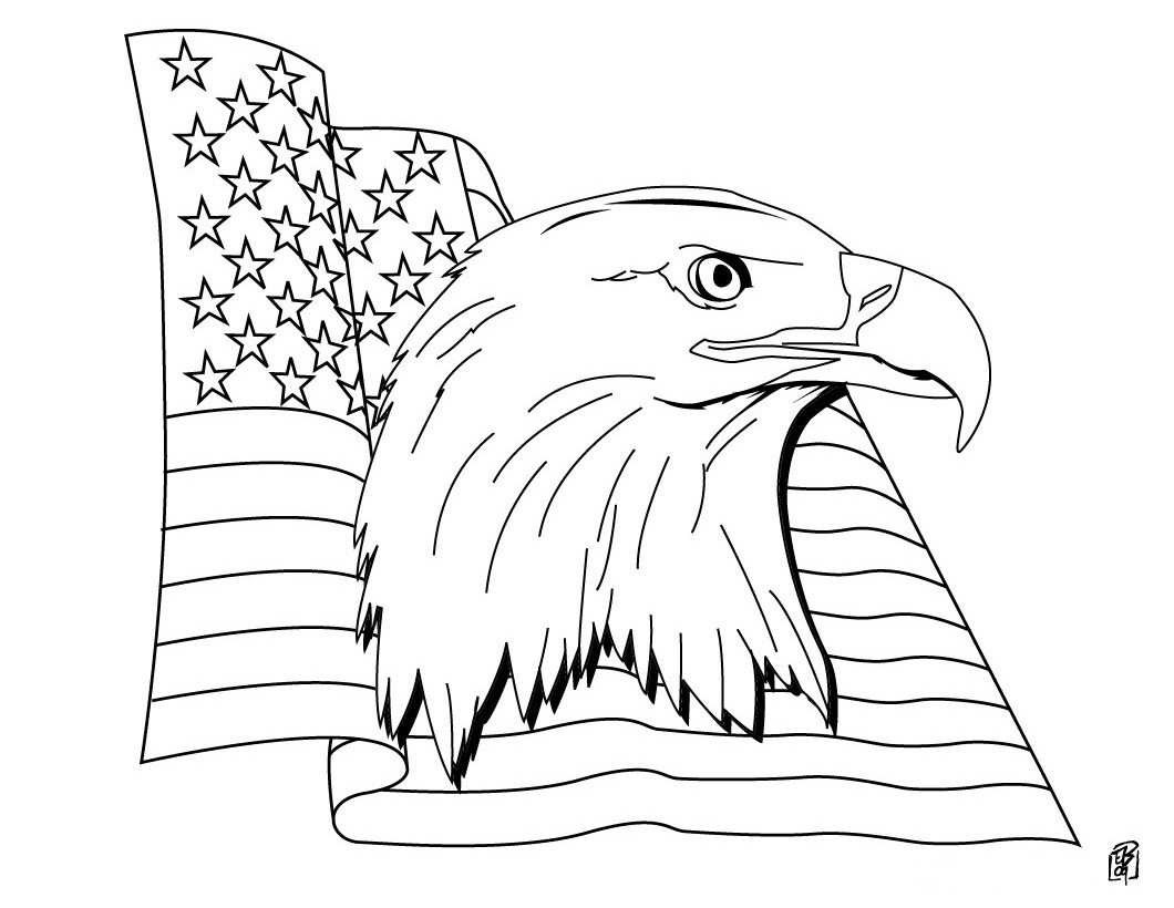 Best ideas about Patriotic Printable Coloring Pages . Save or Pin American Flag Coloring Pages Best Coloring Pages For Kids Now.