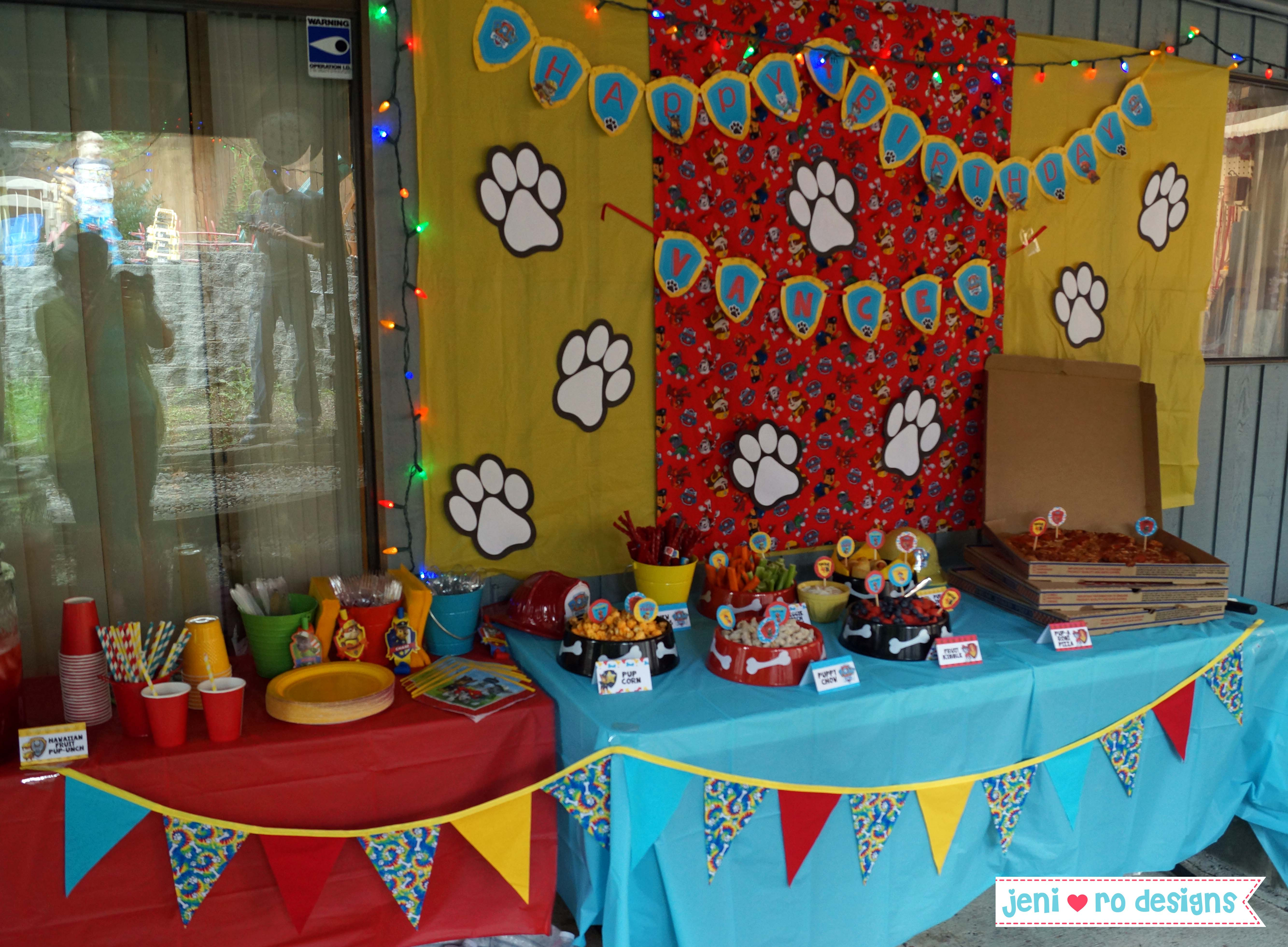 Best ideas about Paw Patrol Birthday Decor . Save or Pin Mr V's Paw Patrol 4th Birthday Party – The details Now.
