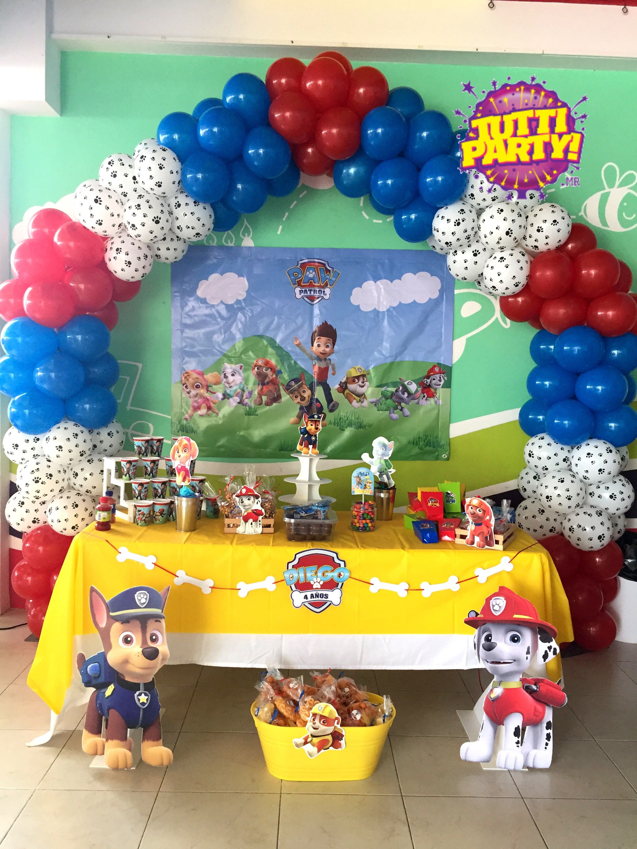 Best ideas about Paw Patrol Birthday Decor . Save or Pin Paw patrol arch balloons decorations paw patrol Party Now.