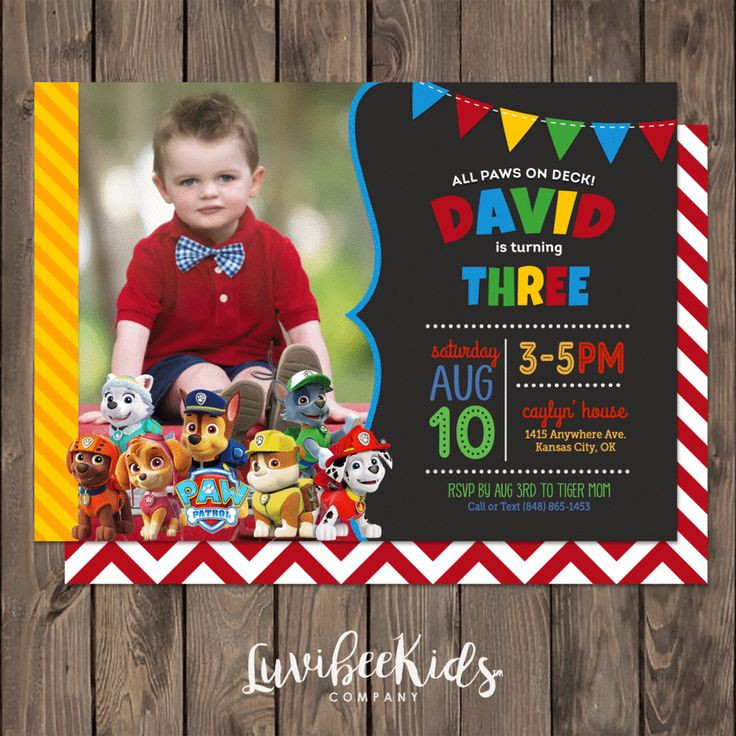 Best ideas about Paw Patrol Birthday Invitations With Photo . Save or Pin Best 25 Paw patrol birthday invitations ideas on Now.