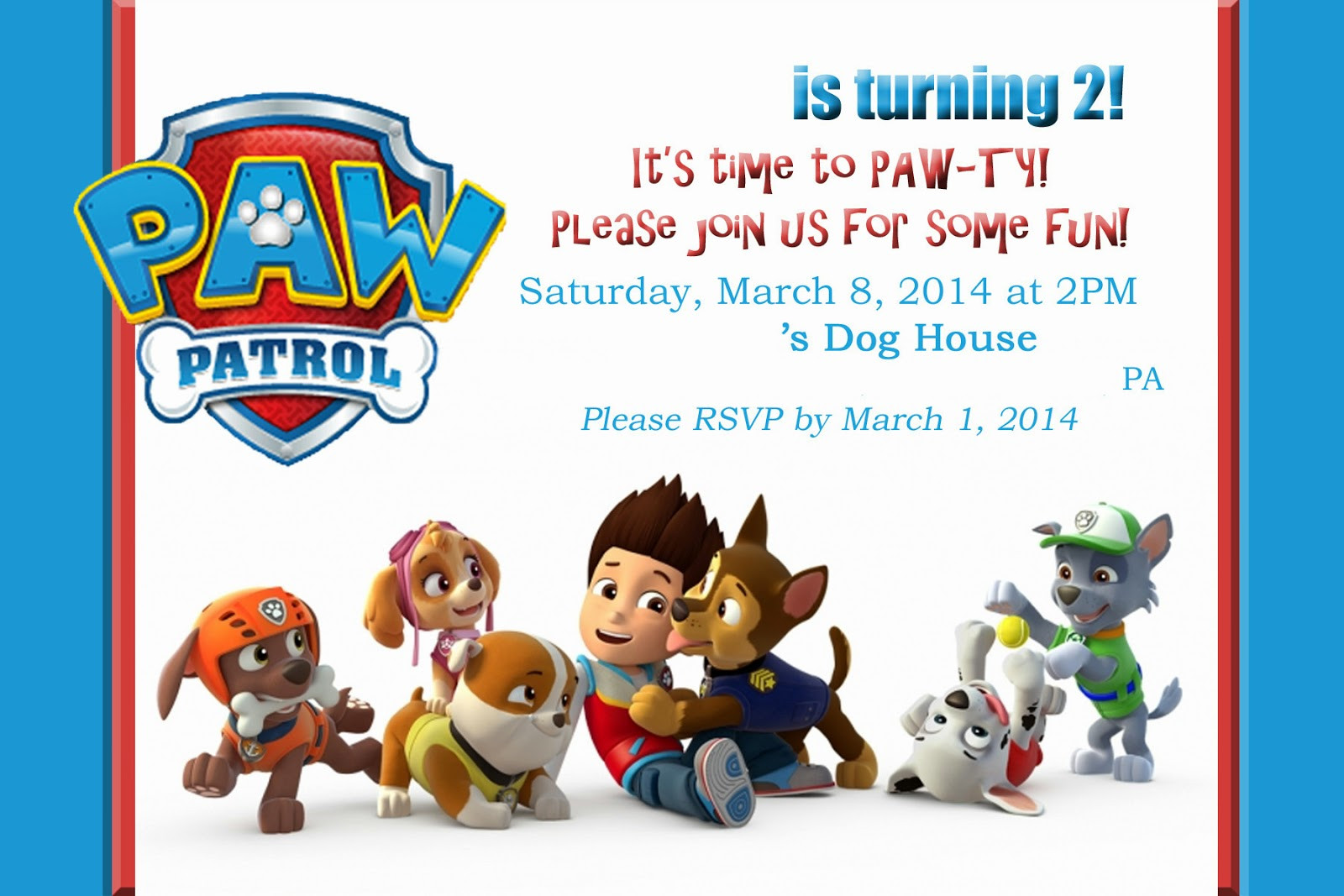 Best ideas about Paw Patrol Birthday Invitations With Photo . Save or Pin Mom s Tot School PAW Patrol Puppy Party Now.