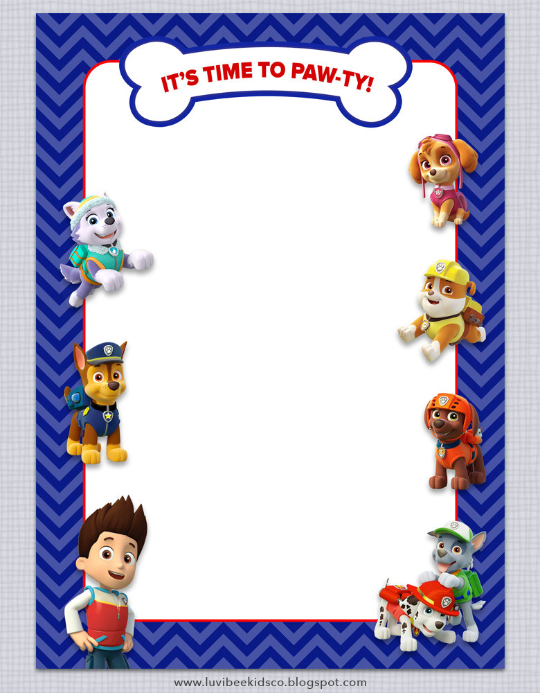 Best ideas about Paw Patrol Birthday Invitations With Photo . Save or Pin Paw Patrol Birthday Invitations Free Printables Now.