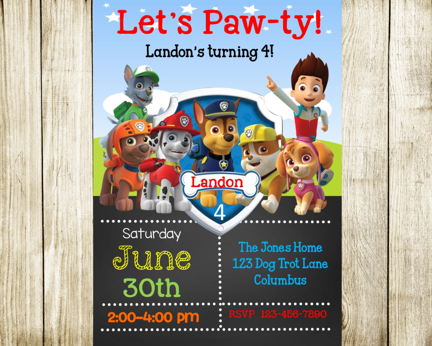Best ideas about Paw Patrol Birthday Invitations With Photo . Save or Pin Paw Patrol Birthday Paw Patrol Invitation by NeedmoreDesigns Now.