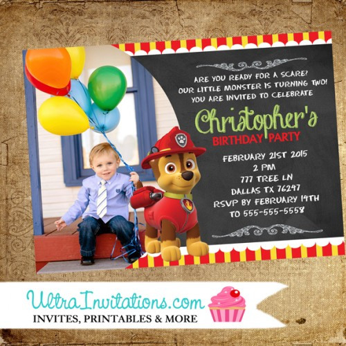 Best ideas about Paw Patrol Birthday Invitations With Photo . Save or Pin Paw Patrol Invitations Birthday 1 Custom Now.