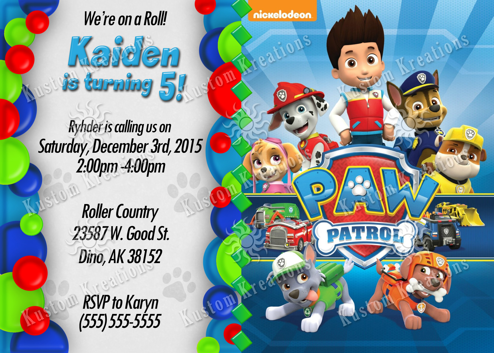 Best ideas about Paw Patrol Birthday Invitations With Photo . Save or Pin Paw Patrol Birthday Invitations Now.