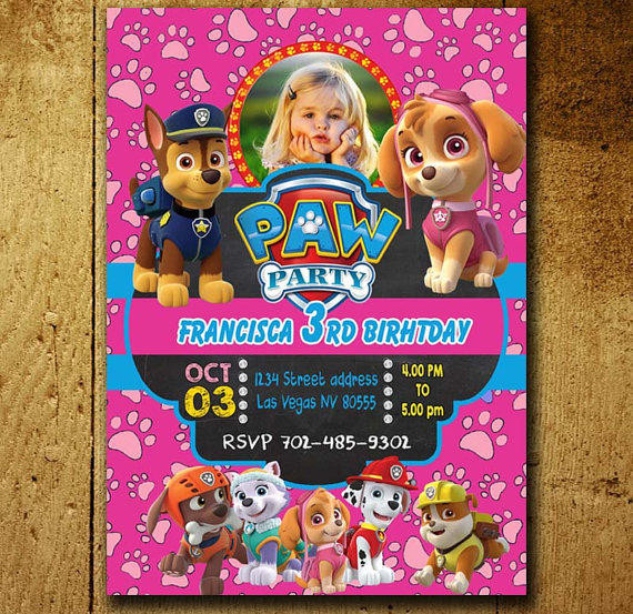 Best ideas about Paw Patrol Birthday Invitations With Photo . Save or Pin Invitations Paw Patrol Invitation Paw from Now.