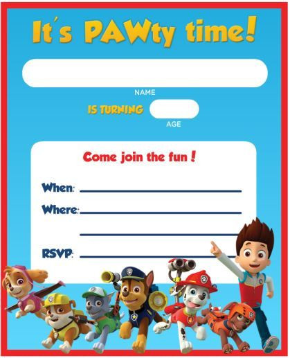 Best ideas about Paw Patrol Birthday Invitations With Photo . Save or Pin FREE Printable Paw Patrol Birthday Invitation Ideas Now.