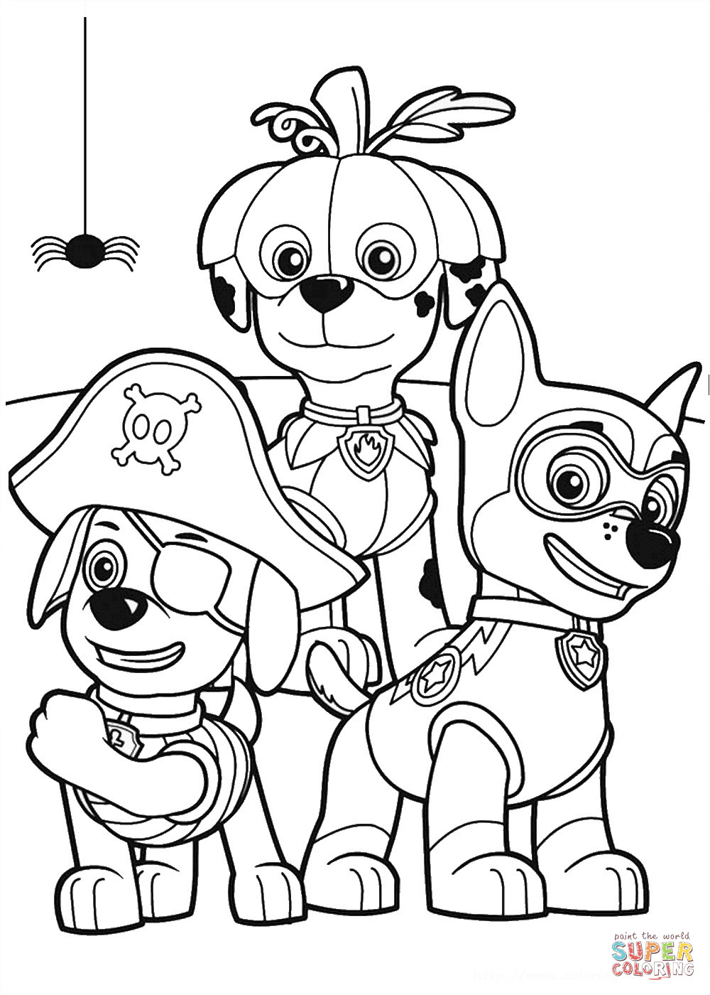 Best ideas about Paw Patrol Free Coloring Sheets . Save or Pin Paw Patrol Halloween Party coloring page Now.