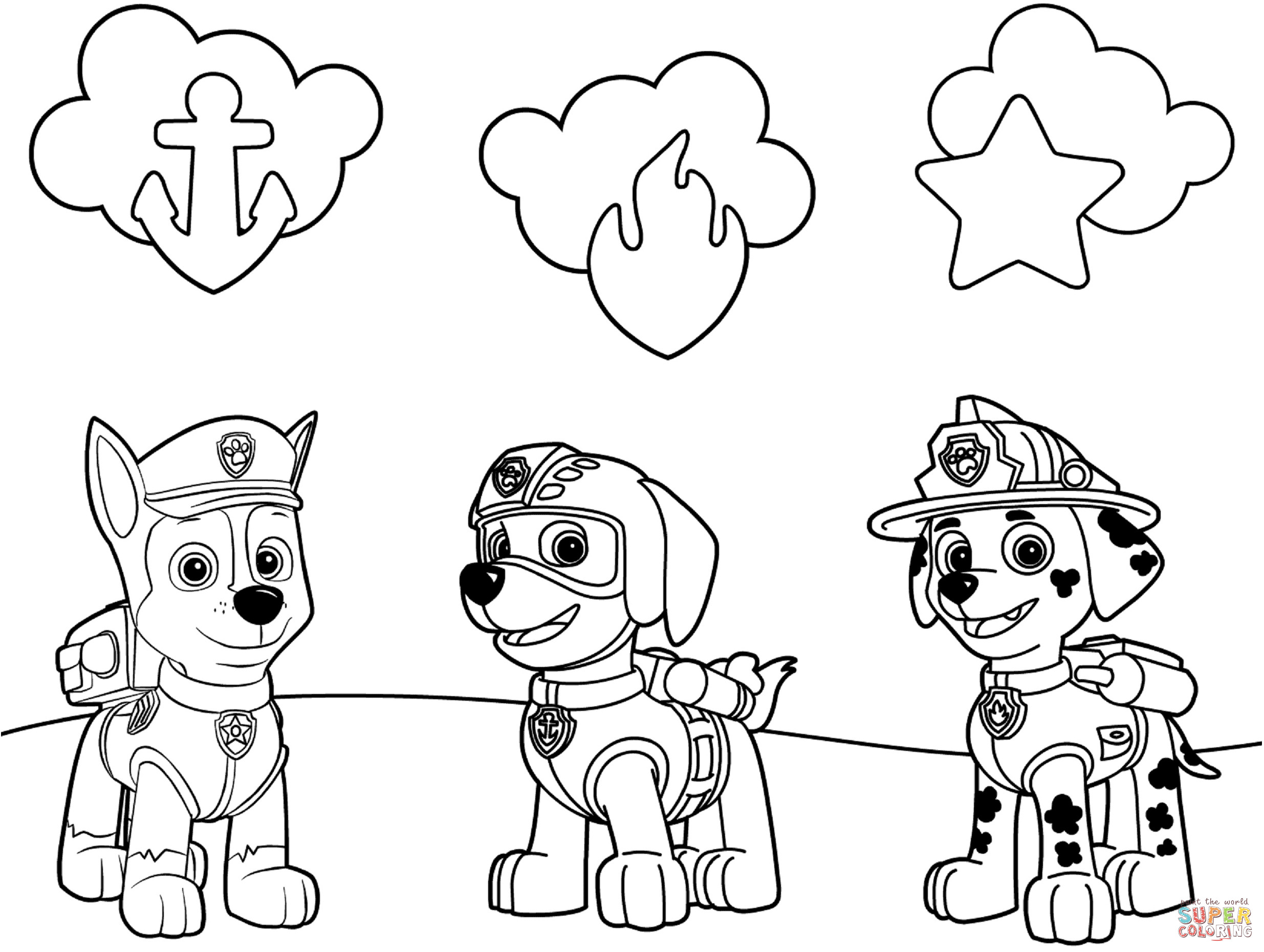 Best ideas about Paw Patrol Free Coloring Sheets . Save or Pin Paw Patrol Badges coloring page Now.