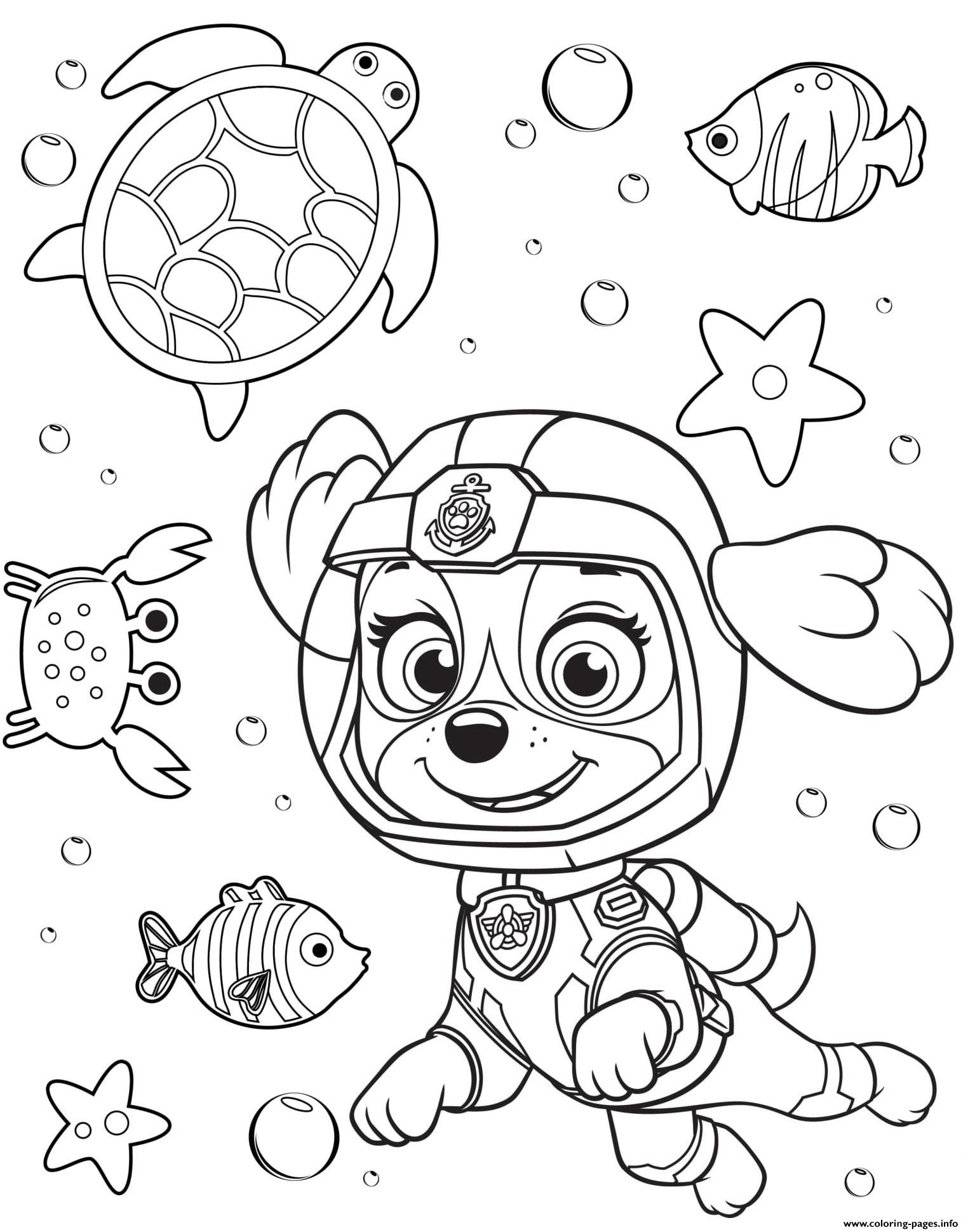 Best ideas about Paw Patrol Free Coloring Sheets . Save or Pin Sea Patrol Skye Paw Coloring Pages Printable Now.