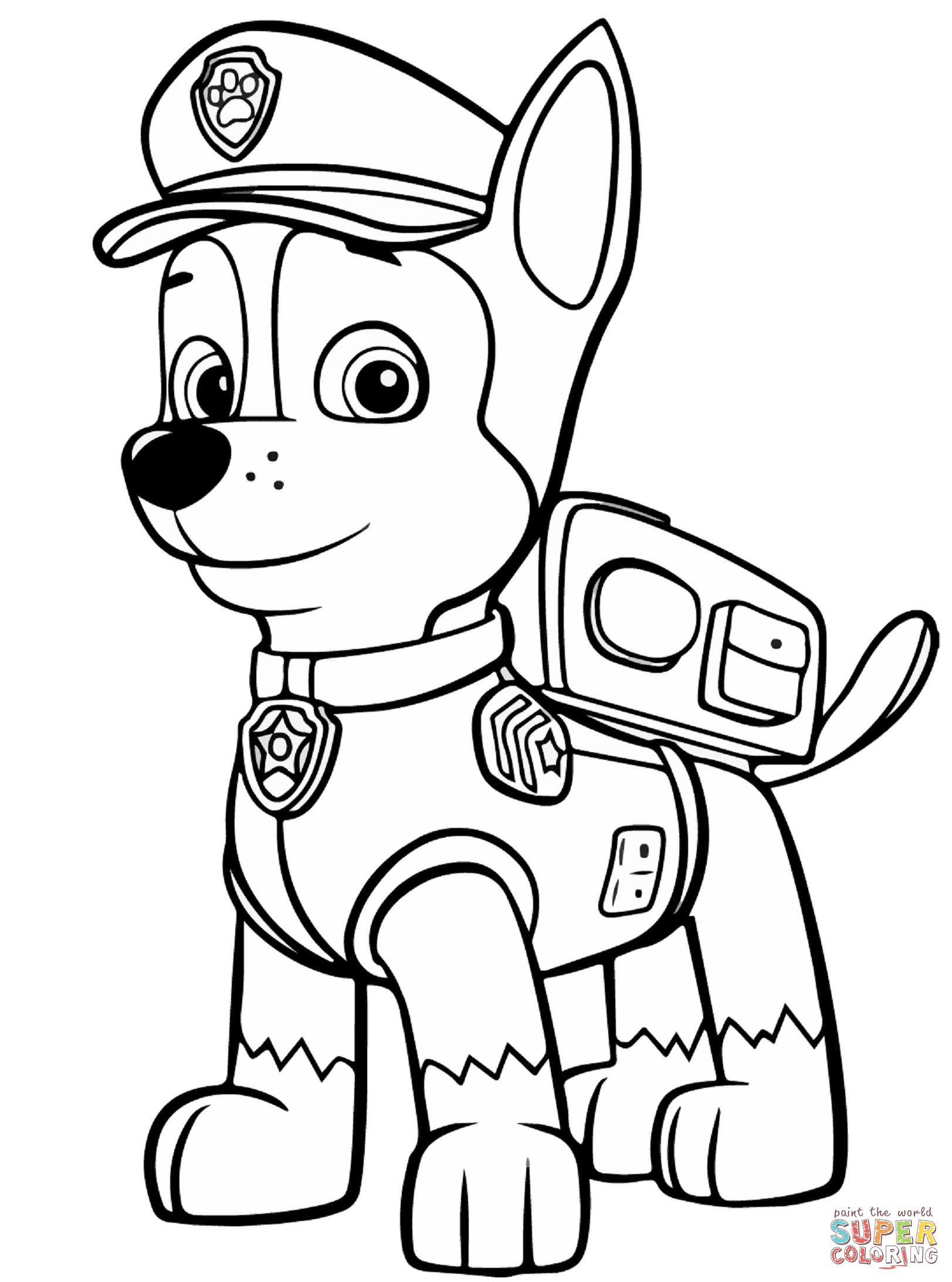 Best ideas about Paw Patrol Free Coloring Sheets . Save or Pin Paw Patrol Chase coloring page Now.
