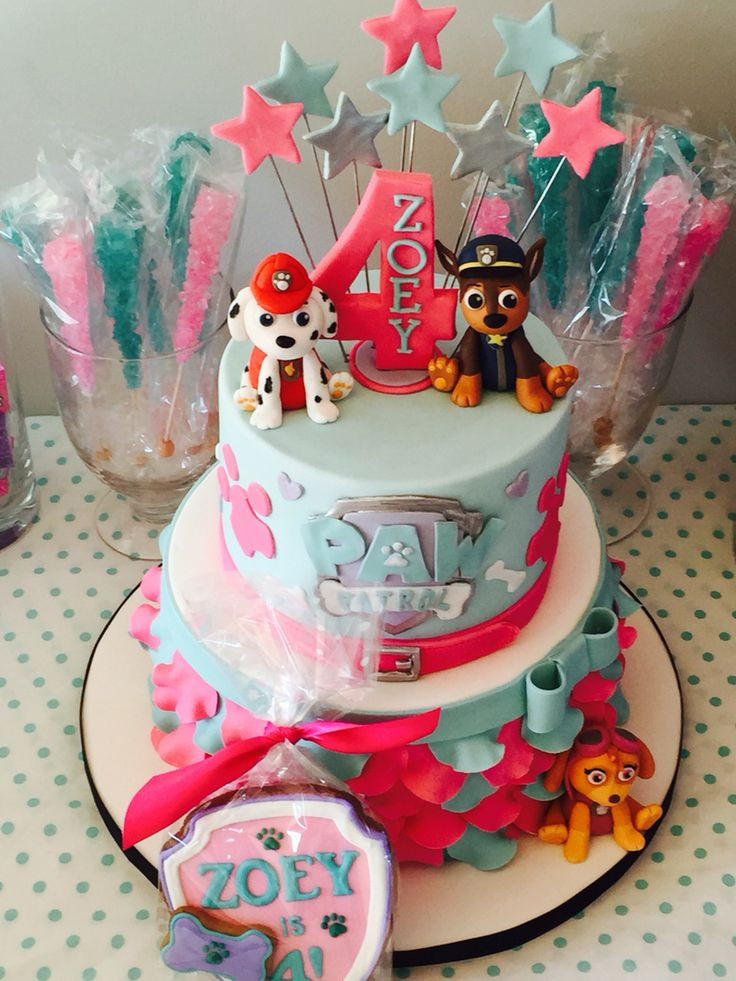 Best ideas about Paw Patrol Girl Birthday Cake . Save or Pin Best 20 Paw Patrol Names ideas on Pinterest Now.