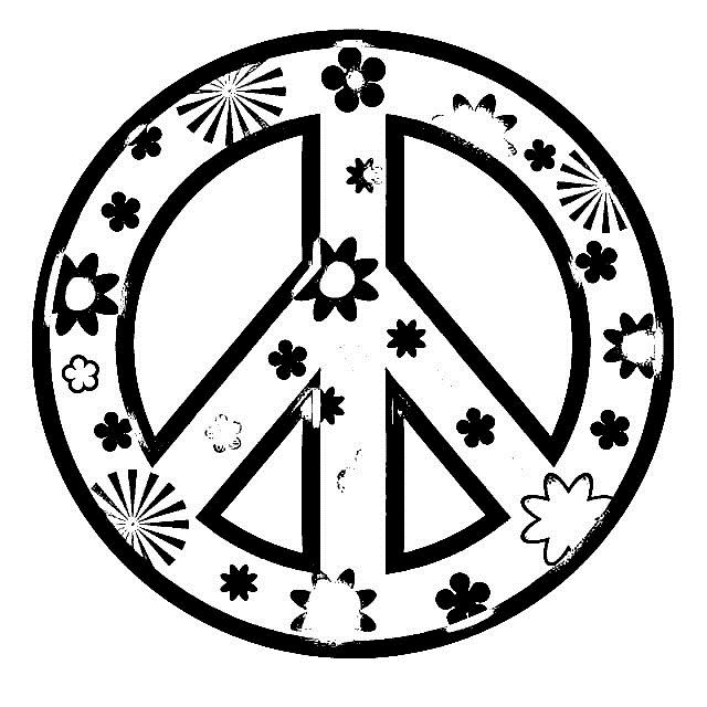 Best ideas about Peace Sign Coloring Sheets For Girls . Save or Pin Peace Sign Coloring Pages for Girls Now.