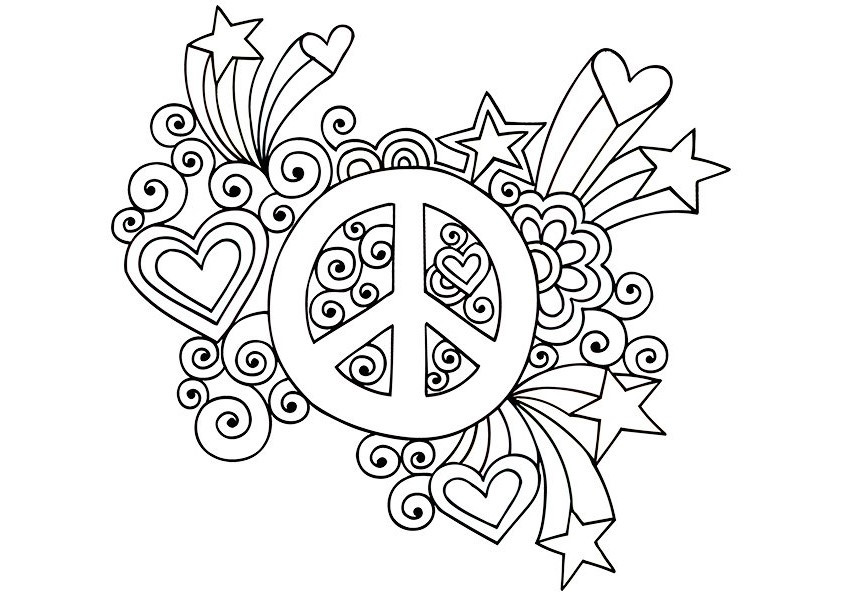 Best ideas about Peace Sign Coloring Sheets For Girls . Save or Pin Simple and Attractive Free Printable Peace Sign Coloring Pages Now.