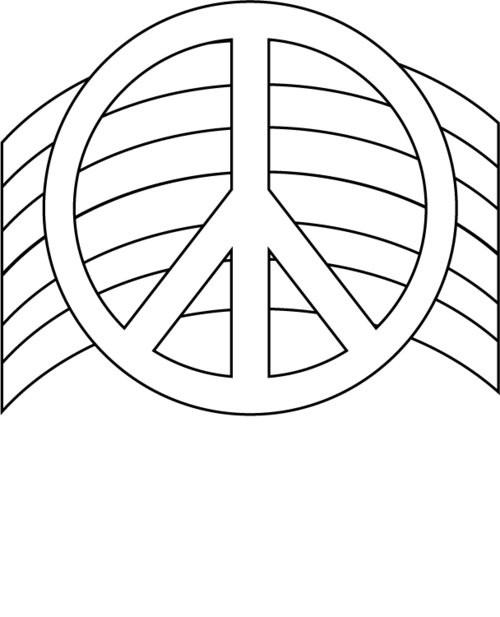 Best ideas about Peace Sign Coloring Sheets For Girls . Save or Pin Free Printable Peace Sign Coloring Pages Disney Now.