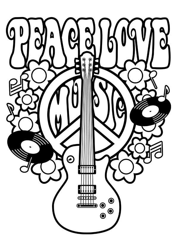 Best ideas about Peace Sign Coloring Sheets For Girls . Save or Pin Simple and Attractive Free Printable Peace Sign Coloring Now.