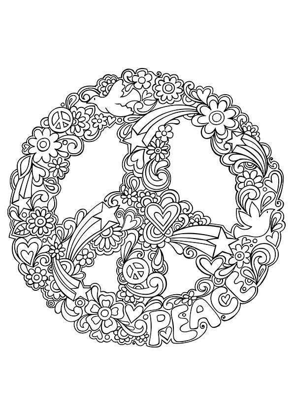 Best ideas about Peace Sign Coloring Sheets For Girls . Save or Pin Free Coloring pages printables A girl and a glue gun Now.