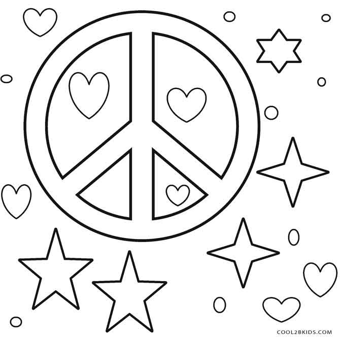 Best ideas about Peace Sign Coloring Sheets For Girls . Save or Pin Free Printable Peace Sign Coloring Pages Now.