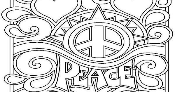 Best ideas about Peace Sign Coloring Sheets For Girls . Save or Pin Peace Sign Coloring Pages Printable Enjoy Coloring Now.