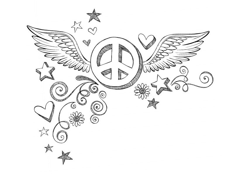 Best ideas about Peace Sign Coloring Sheets For Girls . Save or Pin Peace Coloring Pages Best Coloring Pages For Kids Now.