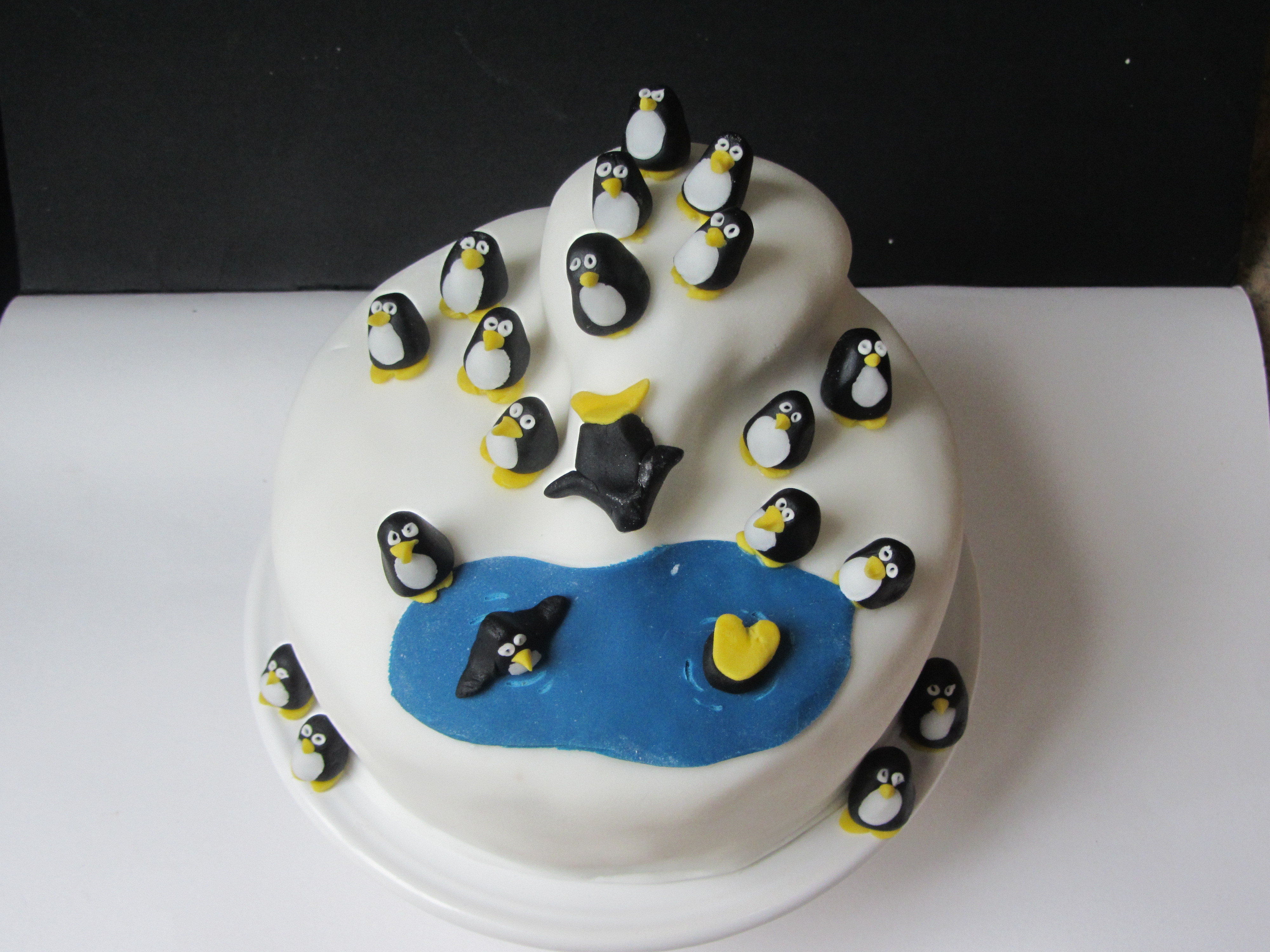 Best ideas about Penguins Birthday Cake . Save or Pin Penguin Themed Birthday Cake – Lucy s Friendly Foods Now.