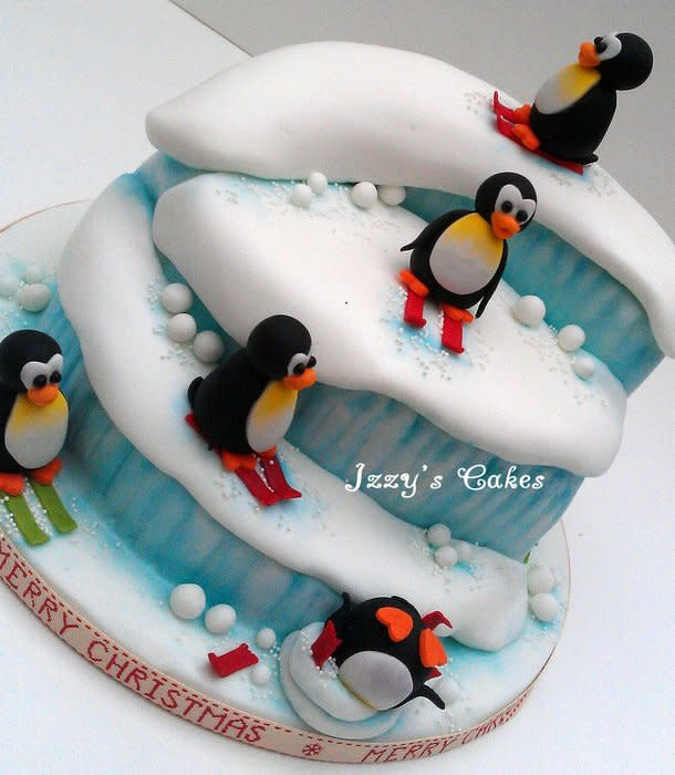 Best ideas about Penguins Birthday Cake . Save or Pin Penguin Christmas Cake cake by The Rosehip Bakery Now.